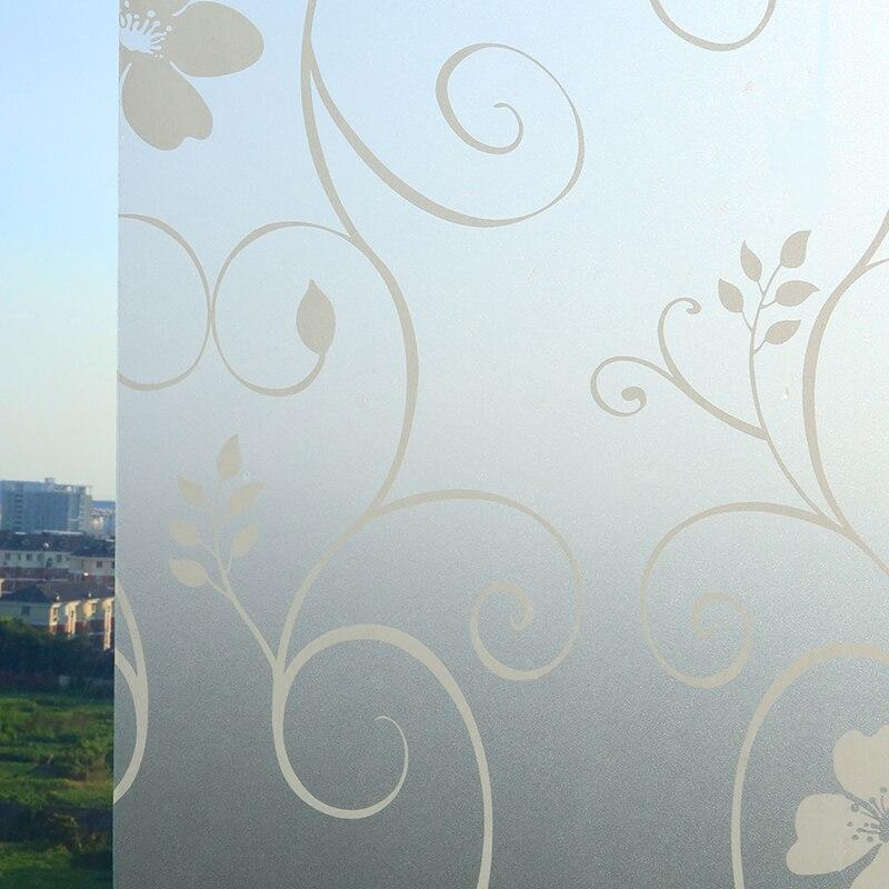 45x100cm 3D Flower vine glass window film frosted glass sliding door  bathroom window film opaque sun. Online Get Cheap Frosted Sliding Glass Doors  Aliexpress com