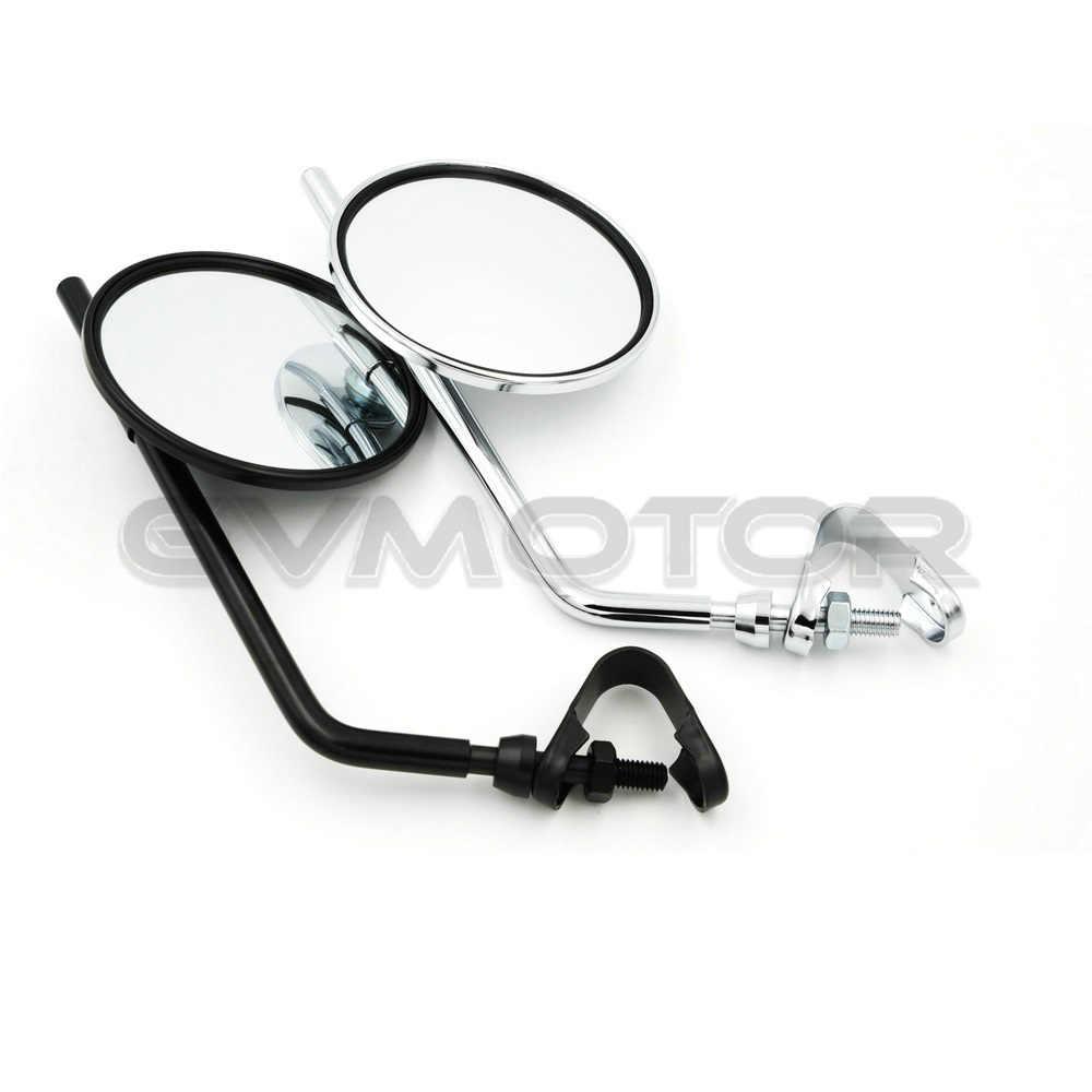 Specchio retrovisore tondo Specchi retrovisori rotondi modificati for moto Specchi retrovisori cromati 2 pezzi