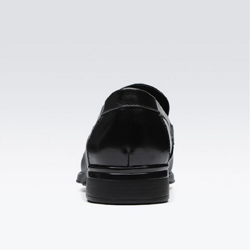 Confortável Loafer Bonito De Homens Sapatos Se Marca Vestem Mocassin Preto Homme Negócios Couro Oxfords Mycolen qUEExf7t