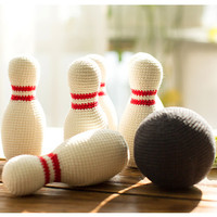 Hand DIY Crochet Baby woolen knitting Hand bowling children's puzzle toys