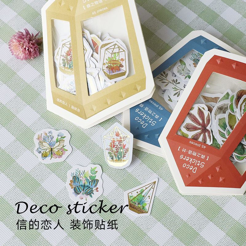 Natural Forest Life Thing Decorative Washi Stickers Scrapbooking Stick Label Diary Stationery Album Stickers цены
