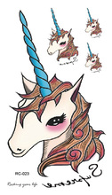 Body Art Waterproof Temporary Tattoos For Children And Women Lovely Cartoon Unicorn Design Small Tattoo Sticker