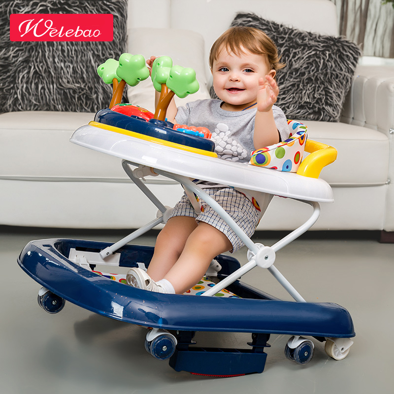 Brand weilebao Baby Toddler 6/7-18 Months, Baby Anti Rollover, Multi-function U Type Learning Car Folding, With Music baby car rollover multifunctional music 6 7 18 months baby children learn driving
