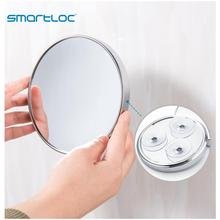 smartloc 20cm 5X Magnifying Suction Cup Wall Mounted Round Bathroom Mirror Bath Makeup Cosmetic Make up Mirrors Accessories