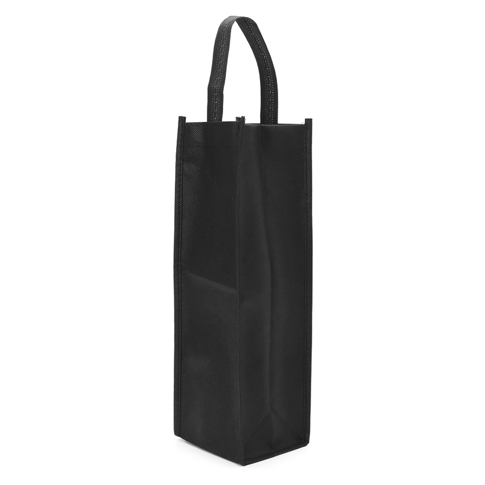 1Pc Non-woven Fabric Red Wine Bottle Bags Gift Weddings Holiday Party Washable Wine Bottles Cover Black