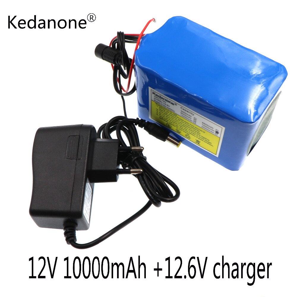 2018 Новая плата защиты литиевой батареи большой емкости 12 в 10 Ач 18650 12 в 10000 емкость + зарядное устройство 12 в 1 А