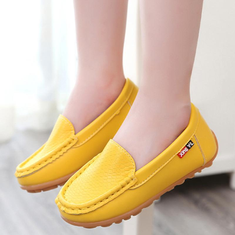 цена на Children Shoes Kids For Girl Boy Breathable Sneakers Flats With Soft Leather Running Shoes Toddler/little Kid/big Kid JM54