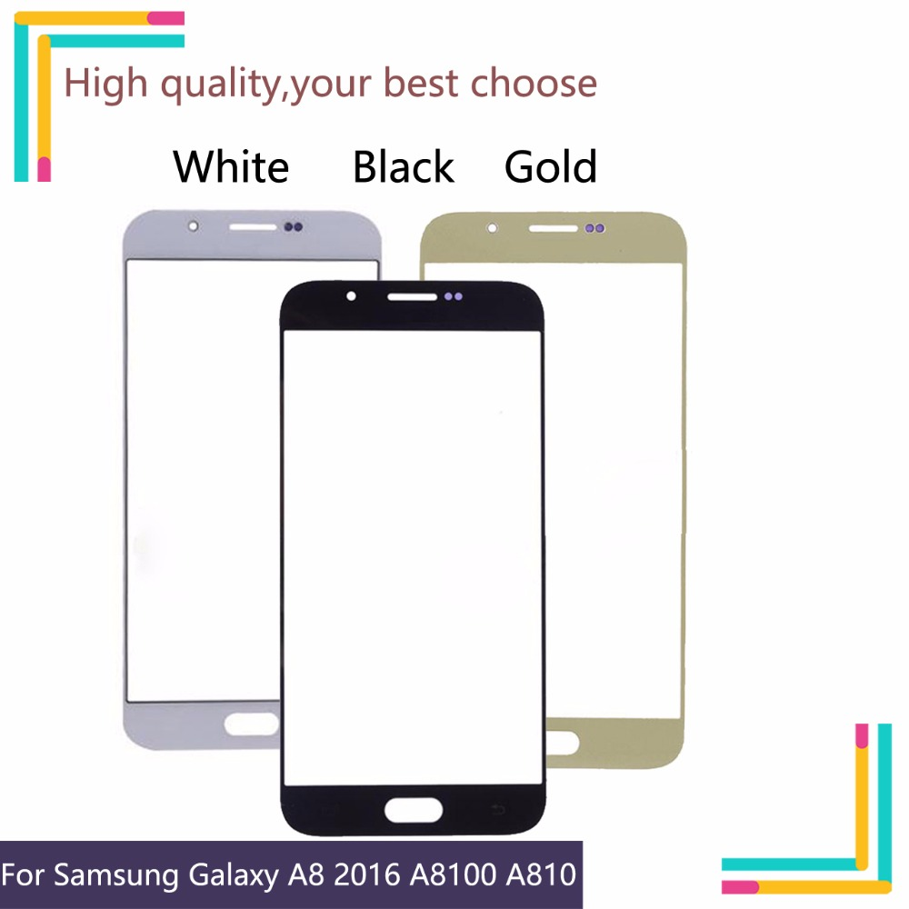 TouchScreen For Samsung Galaxy A8 2016 A8100 A810 A810F A810DS A810H Touch Screen Front Panel Glass Lens Front Outer LCD Glass image