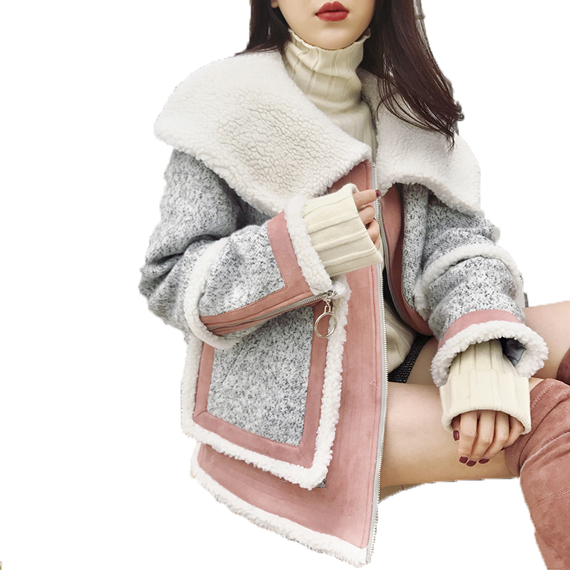 New Autumn Winter Jacket Women Clothes  Wool Jacket Real Fur Coat  Elegant Slim Parka Women Tops Jaqueta Feminina Z612