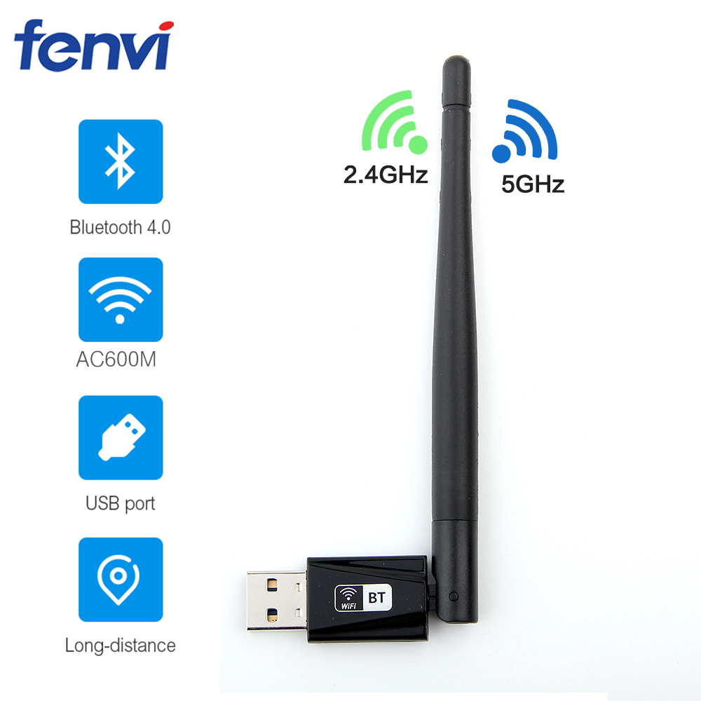 Dual Band 802.11ac 600Mbps USB RTL8821CU Wireless-AC Wlan USB Wifi Lan Dongle Bluetooth Adapter With Antenna For Laptop Desktop