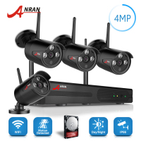 ANRAN Plug Play P2P 4 0MP HD Wireless Array IR Security Camera System 4CH 1440P WIFI