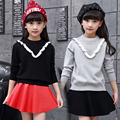 Knitted Sweaters For Girls Children Clothing Preppy Style Girls Sweaters Spring Autumn Kids Bottoming Shirts 2 4 6 8 10 12 Years