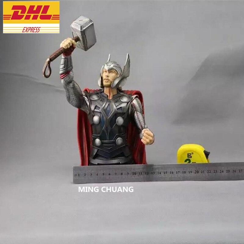 Avengers Infinity War Superhero Statue Thor buste Thor Odinson demi-longueur Photo ou Portrait 1:4 PVC figurine jouet boîte J544