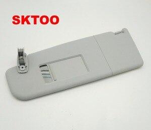 Автоаксессуары SKTOO, солнцезащитный козырек для Skoda Octavia 2007-2014 с зеркалом для макияжа, солнцезащитный козырек, бежевый/серый