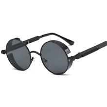 Vintage Women Steampunk Sunglasses Brand Design Round Sunglasses for men women Oculos de sol UV400 sun glasses eyewear
