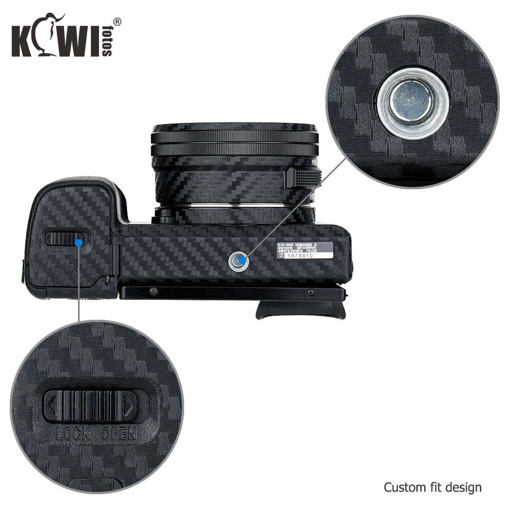 Corpo della fotocamera KIWI 3M adesivo PELLE film Copertura Protettore Fr Sony A6000+16-50mm Lens
