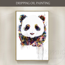 Unframed Hand-painted High Quality Panda Oil Painting on Canvas Modern Abstract Baby Animal