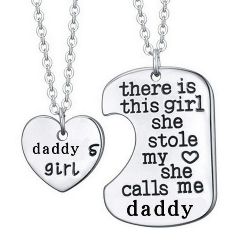 Dad And Daughter Gifts Part - 43: Vintage Wholesale Heart In The Puzzle Pendant Necklace For Daddy Daughter  Dad Father Girls Gift Family