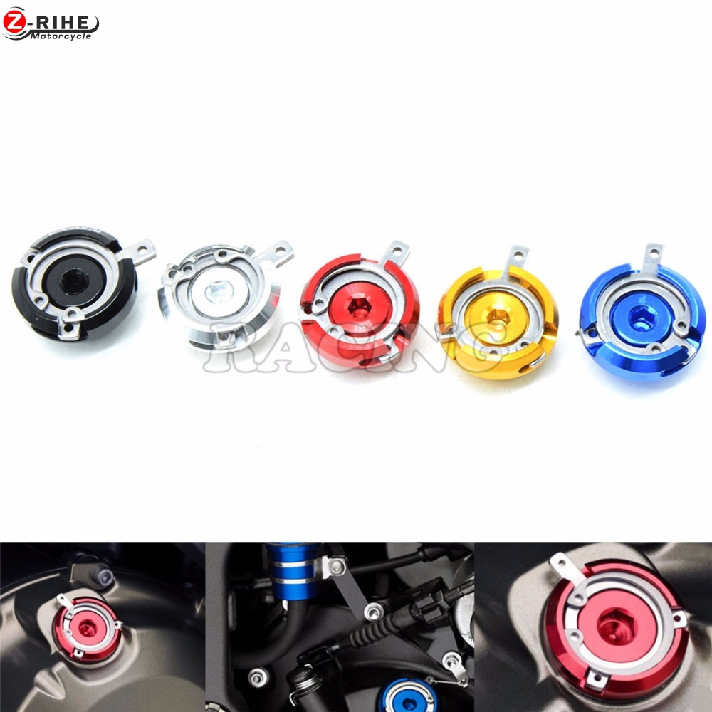 Motorcycle M20*2.5 Engine Oil Filler Cap gold CNC Filler Cover Screw for DUCATI Monster 1200 2014-2016 Monster 1200S 2014-2016 M motorcycle engine cover camshaft plug crankcase cap oil filler cover screw for honda cbr500r cb500f nc700 nc750 2013 2014