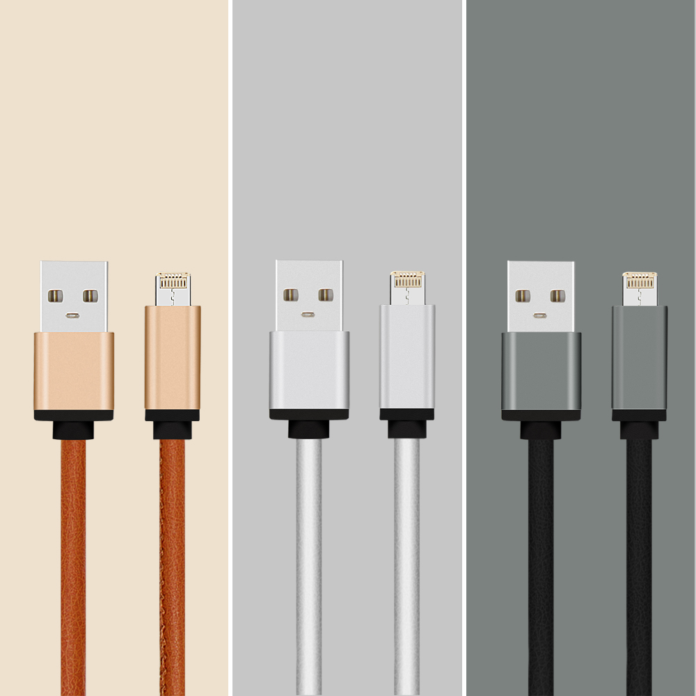 50 Piece/dozen Micro USB Cable 2In1 Data Cable Flexible USB Multi Charger Data Cable for Android and Ios Cell Phone Charger 1006