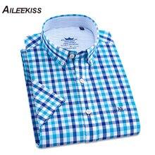 camisa corta cuadros moda