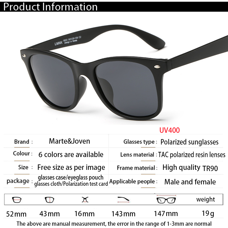 c97422a472  Marte Joven  Classic Retro Women Men Matte Black Frame Polarized Oval Sunglasses  Driver s Mirror Coating Points Driving Eyewear-in Sunglasses from Apparel  ...