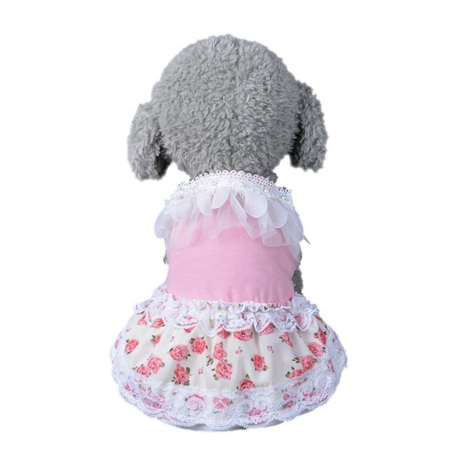 New Arrival Pet Dog Princess Dress Tutu Rose&bow Dresses Cat Puppy Skirt clothes 2 colours