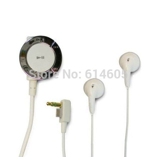 White Stereo Earphone Headphone and Remote Control for Sony PSP 2000 3000 Console