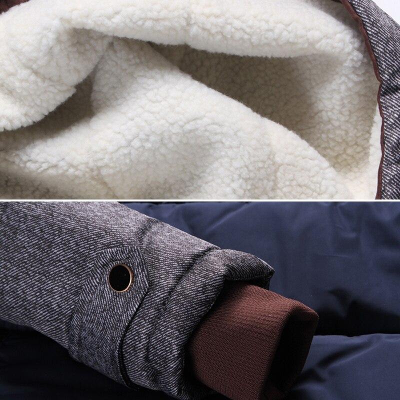 Marque Hiver Veste Hommes Mode M-5XL Nouvelle Arrivée Occasionnel Mince Coton Épais Mens Manteau Parkas Avec À Capuche Chaud Casaco Masculino - 4