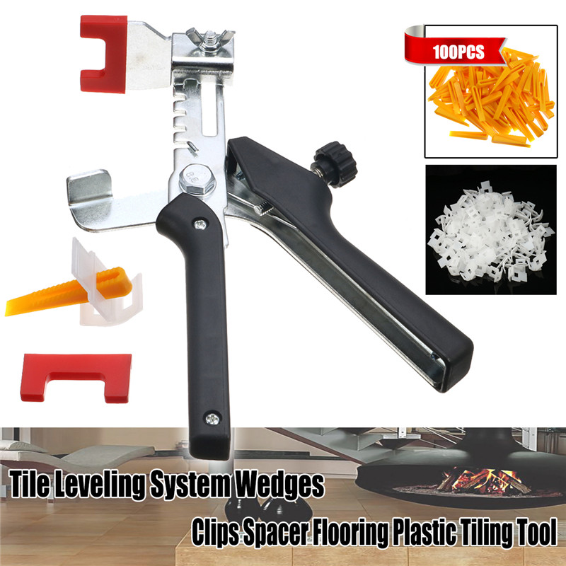 Black Pliers+100pcs Tile Leveling Locator System Wedges and Clips Spacer Flooring Plastic Tiling Installation Strippers Tools дермально активный крем с коллагеном и эластином 50 мл beautymed