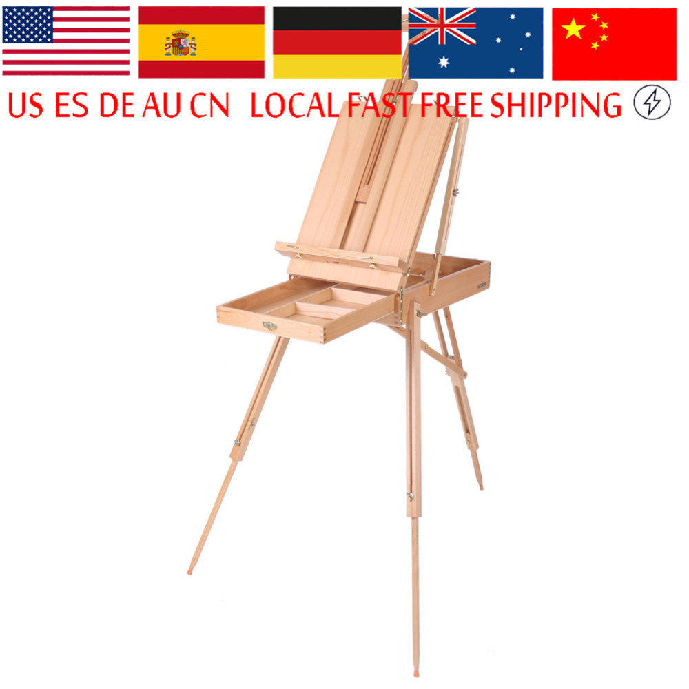 1pc Wooden Table Painting Easel Sketch Box Portable Folding Artist Painters Tripod for School Student Artist
