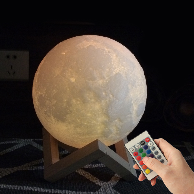 20 CM 3d Lamp Moon Night Light Kids Adult Valentine's Day Gifts Remote Control Touch Sensitive Light Moon Lamp Led 3D Print
