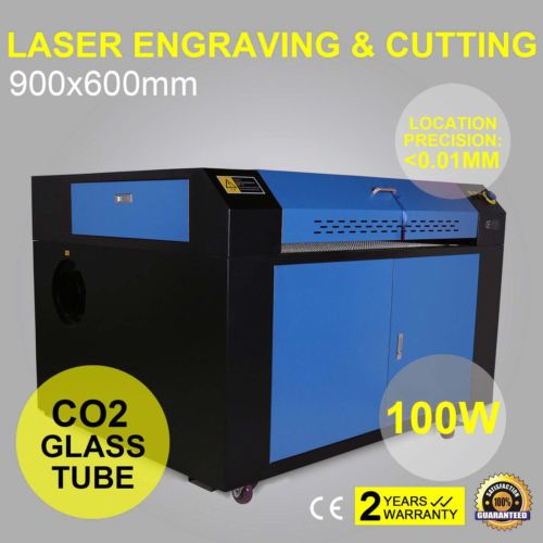 100W CO2 USB Laser Engraving Cutting Machine 900x600mm Engraver Cutter Wood working Crafts Printer Cutter