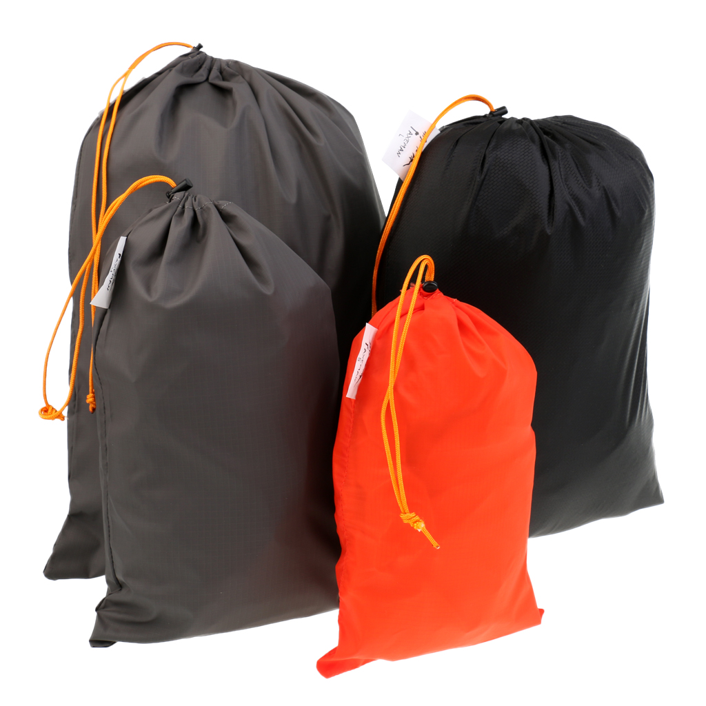 5 Durable Drawstring Carry Sack Pouch Stuff Sack for Camping Pot Pans Stove