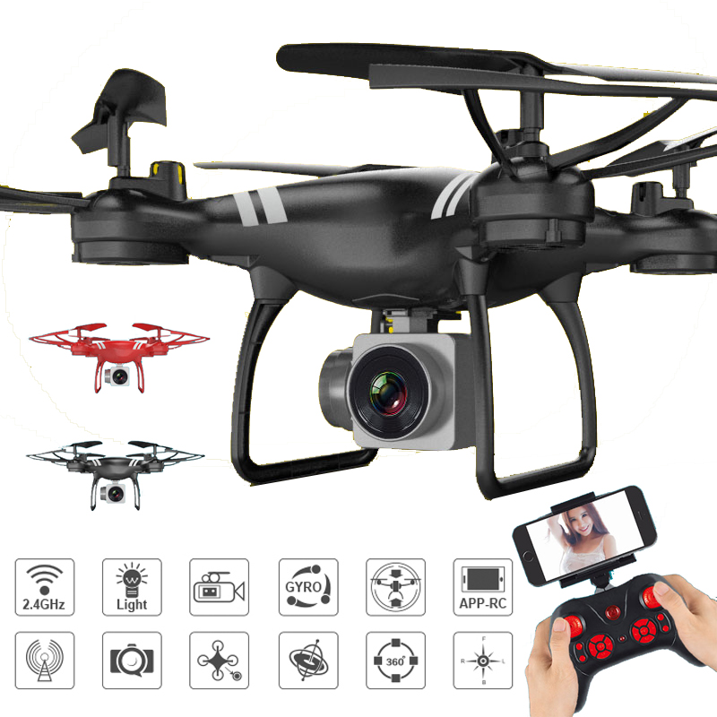 XKY KY101 RC Drone w/ Wifi FPV HD Adjustable Camera Altitude Hold One Key Return/Landing/ Take Off Headless RC Quadcopter Drone купить недорого в Москве