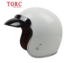 Free shipping genuine TORC half helmet electric car helmet motorcycle helmet retro / White