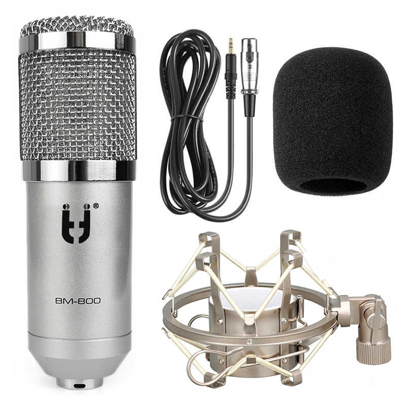 Ituf BM 800 Professional Condenser Microphone High Quality 3.5mm Wired Sound Recording microphone for computer Phantom power
