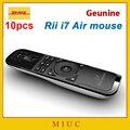 10 шт./DHL Оптовая Мини Air Mouse Rii i7 2.4 Г Беспроводной Игровой Клавиатуры Дистанционного Combo Встроенный 6 Оси для Motion Sensing Gamer