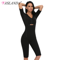 VASLANDA Women Full Body Shaper Slimming Bodysuits Sweat Sauna Slim Vest waist trainer Underwear Butt Lifter Shapers