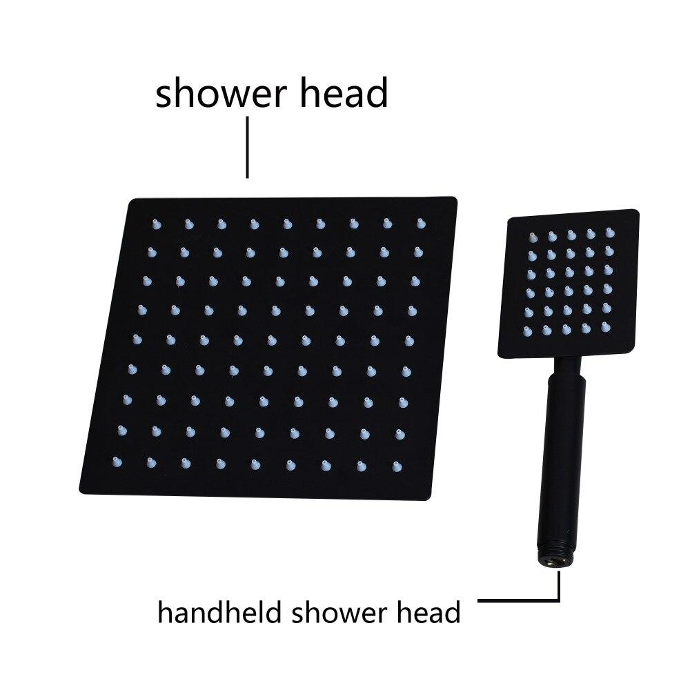 KEMAIDI robinet de douche de salle de bain 3 fonctions noir robinets de douche numérique Set pomme de douche à effet pluie robinet mitigeur à affichage numérique 2 voies - 4