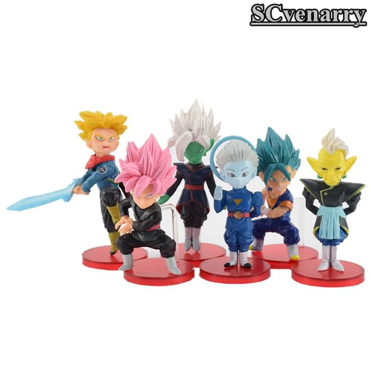 Action & Toy Figures Rapture 6pcs/set Dragon Ball Super Vol.7 Trunks Vegetto Zamasu Super Saiyan Rose Goku Black Grand Priest Pvc Figures Toys 50% OFF