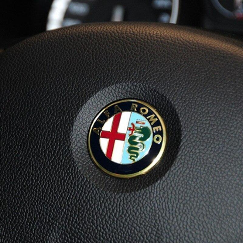 100X 40MM Steering Wheel Badge Emblem Sticker Auto Accessories foe ALFA ROMEO Brera 147 156 166
