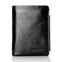CONTACT S Men Wallet Design Men Trifold Wallets Fashion Purse Card Holder Wallet Man Genuine Leather