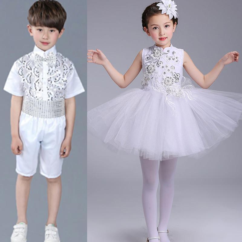 2018 Girls/boys Ballet Dance Dress New Stage Ballet Costume Elegant White Swan Lake Ballet Dancing Wear Children Ballet Dress