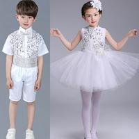 2018 Girls/boys Ballet Dance Dress New Stage Ballet Costume Elegant White Swan Lake Ballet Dancing Wear Children Ballet Dress