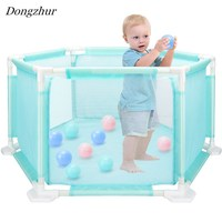 Dongzhur Ocean Ball Pit Pool Hexagon Playpen Security Crawling Toddler Trilateral Washable Ocean Pool Suit Indoor/Outdoor Toys