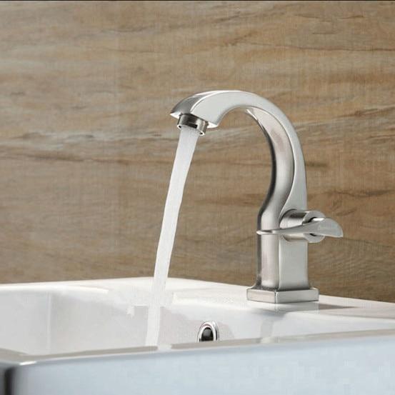 nichel spazzolato rubinetto della cucina singola acqua fredda cucina moderna rubinetti lavandino bagnochina