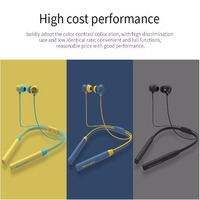 1 Pc/Pack Wireless Noise Reduction Bluetooth Neckband Earphone for Music and Mobilephone