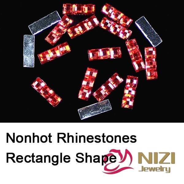 Fashion Resin Rhinestone Beads 20g Flatback Retangle Shape Strass For DIY Decoration New Nonhot Rhinestones 3 Color For Choose