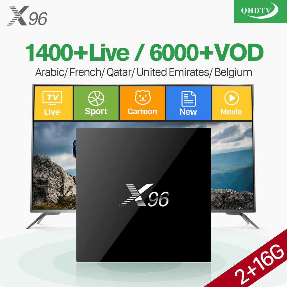 X96 IPTV France Arabic Box Android 7.1 S905X 2G 16G QHDTV IPTV Subscription TV Receivers IPTV French Arabic Belgium Netherlands x96 iptv android arabic france subscription s905x quad core 2g 16g turkish portugal iptv box 1 year iptv code subscription italy